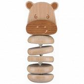 Hochet gling gling en bois fsc hippo safari Bébé Confort