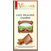 Villars tablette fourrée lait praliné au biscuit croustillant 150g