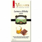 Villars tablette chocolat au lait larmes de whisky 100g