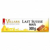 Villars tablette chocolat lait maïs 300g