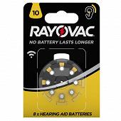 Rayovac piles auditives v 10 x 8