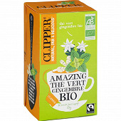 Clipper amazing thé vert gingembre bio 35g