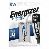 Energizer pile lithium 9 volts (6LR61) ultimate lithium