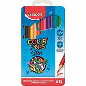 Maped 12 crayons de couleur boîte métal