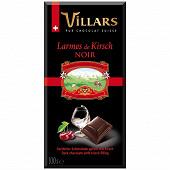 Villars tablette chocolat noir larmes de Kirsch 100g