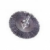 Rondy brosse circulaire nylon à tige en 75 sous double coque