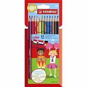 Stabilo - Etui carton 12 couleur color