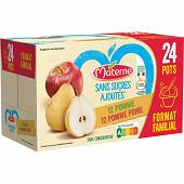 Materne ssa pomme/pomme poire 24x100g