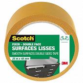 Scotch double face surfaces lisses 25mX48mm