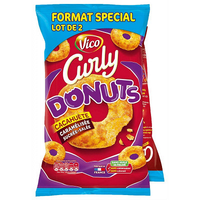 Curly Curly donuts format spécial lot de 2x100g