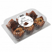 6 muffins assortis éclats chocolat