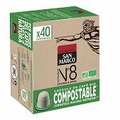 San marco capsules n°8 bio compost x40 204g