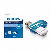 Philips Clé usb 16 gb vivid bleue FM16FD05B/00