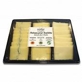 Plateau pour raclette 3 fromages frais emballé