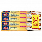 Albal papier cuisson x4 8m lot 3 + 1 offert