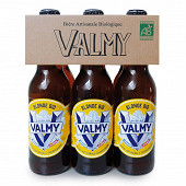 Bière Valmy blonde bio Vol. 5.5% 33cl x6