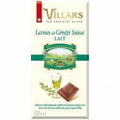 Willars tablette larmes de liqueurs genepi couv lait 100g