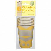 Gobelets x6 pastel 25cl jaune