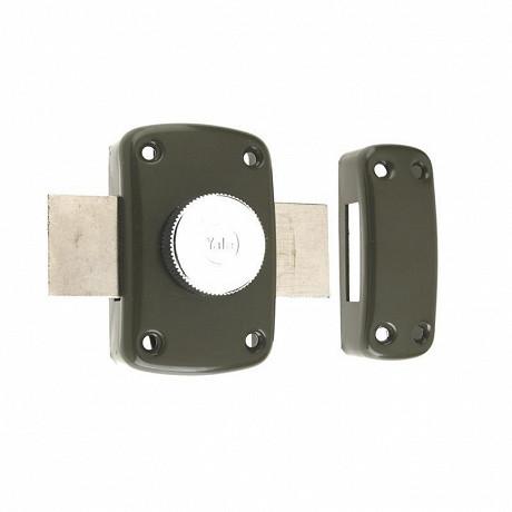 Yale verrou à bouton et cylndre diamètre 23mm, longueur 45mm, 3 clés, marron doré