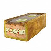 Pâté croûte de saumon atlantique farci à la mousseline de poisson