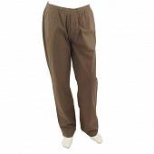 Pantalon taille élastiquée MARRON XL