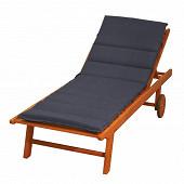 Coussin bain soleil futon 185x55 épaisseur 6 cm gris anth dm