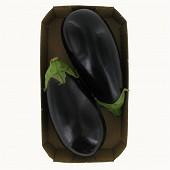 Aubergine bio longue noire barquette 500g
