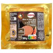 Cora bloc de foie gras de canard du Sud-Ouest avec morceaux 300g