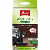 Melitta détartrant Anti Calc Bio Powder pour machines expresso poudre 4x40g