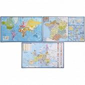 Sous main géographie assortis pvc france dom tom europe