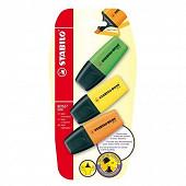 Stabilo - 3 surligneurs stabilo boss mini