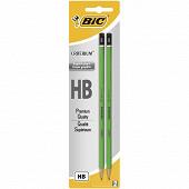 Bic 2 crayons graphite critérium 550 hb