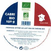 Cabri blanc bio 150g lait de chèvre bio cru