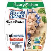 Fleury Michon dés de poulet filière française d'éleveurs engagés 150g