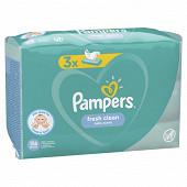 Pampers lingettes freshclean 3x52