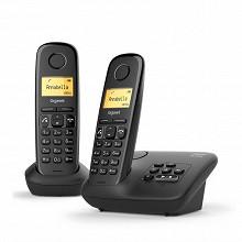 Gigaset Téléphone sans fil avec répondeur AL370A DUO NOIR