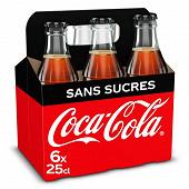 Coca-cola zéro contour basket fardeau ivp 6x25cl
