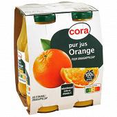 Cora pur jus d'orange bocaux 4 x 20cl