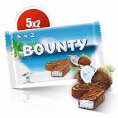 Bounty barre chocolat noix de coco 5x2 285g