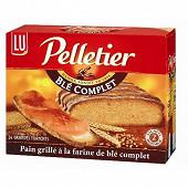 Lu pelletier pain grillé 24 tranches au blé complet 500g