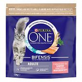 PURINA ONE Croquettes pour chat adulte au Saumon et aux Céréales Complètes -  1,5 KG