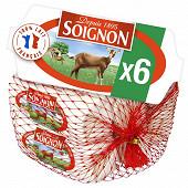 Soignon mini-bûches fromage de chevre 6 x 25 g