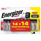 Max 14+14 piles gratuites AA/LR06