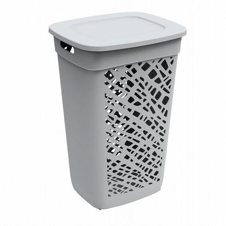 Coffre à linge almeria polypropylene gris beton 60l