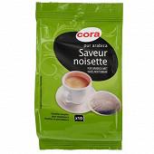 Cora café 10 dosettes pur arabica saveur noisette 70g