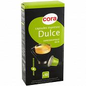 Cora capsules espresso dulce x10 52g