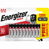 Energizer 20 piles max alcaline AAA LR 3 10+10
