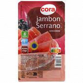 Cora jambon Serrano 6 tranches 100g