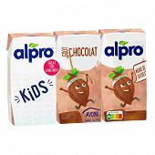 Alpro drink avoine saveur chocolat 3x200 ml