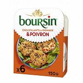 Boursin 6 croustillants de fromage et poivron paprika 150g